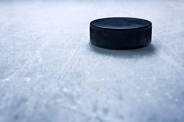 Hockey Puck stock photo
