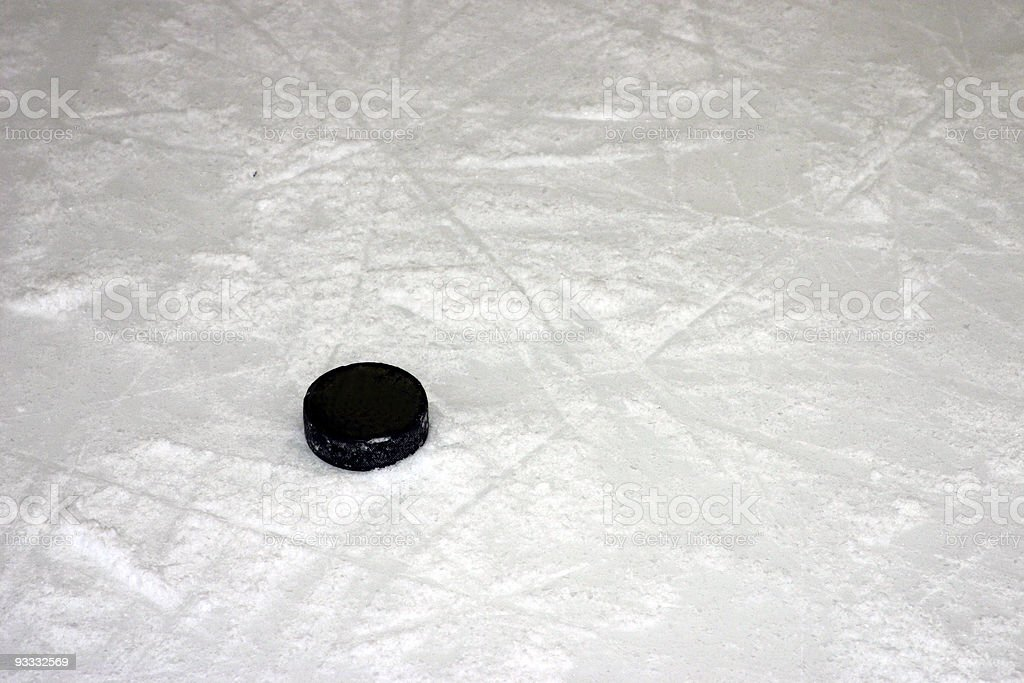 hockey puck royalty-free stock photo