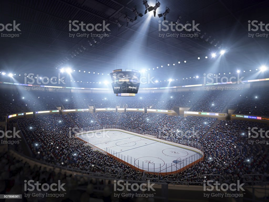 Hockey stadium arena stock photo