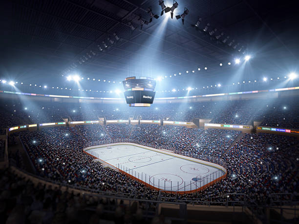 hockey stadium arena - hockey stock pictures, royalty-free photos & images