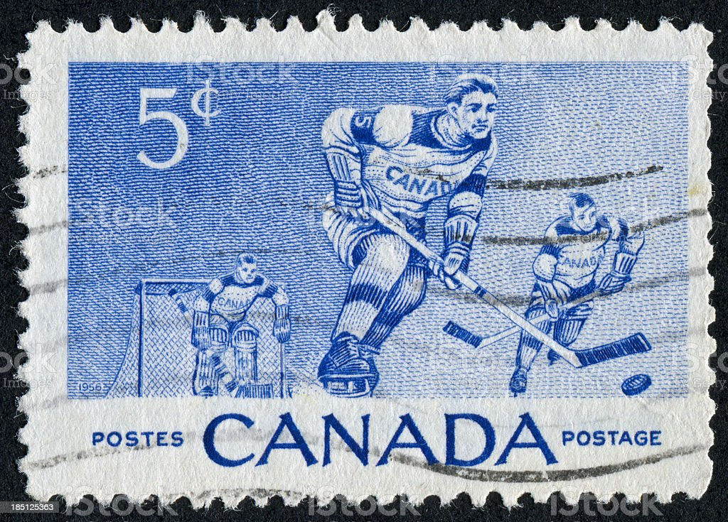 Hockey Stamp royalty-free stock photo
