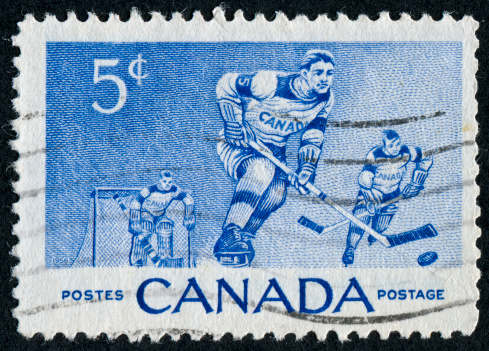 Cancelled Stamp From Canada Featuring The Sport Of Hockey