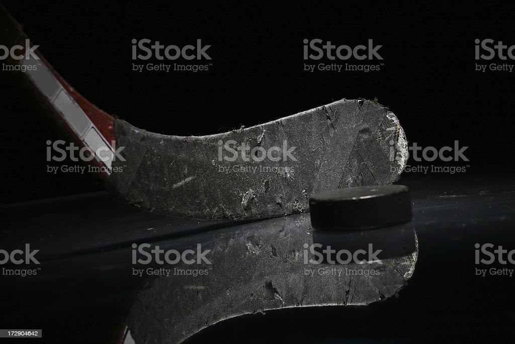 Hockey Stick & Puck royalty-free stock photo