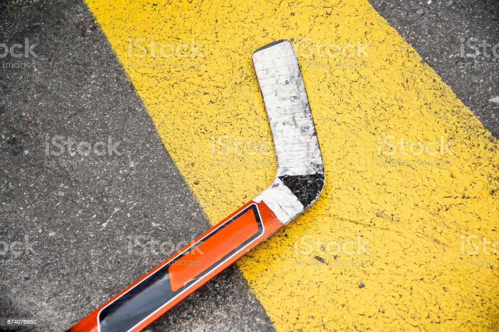 Hockey Street Background stock photo