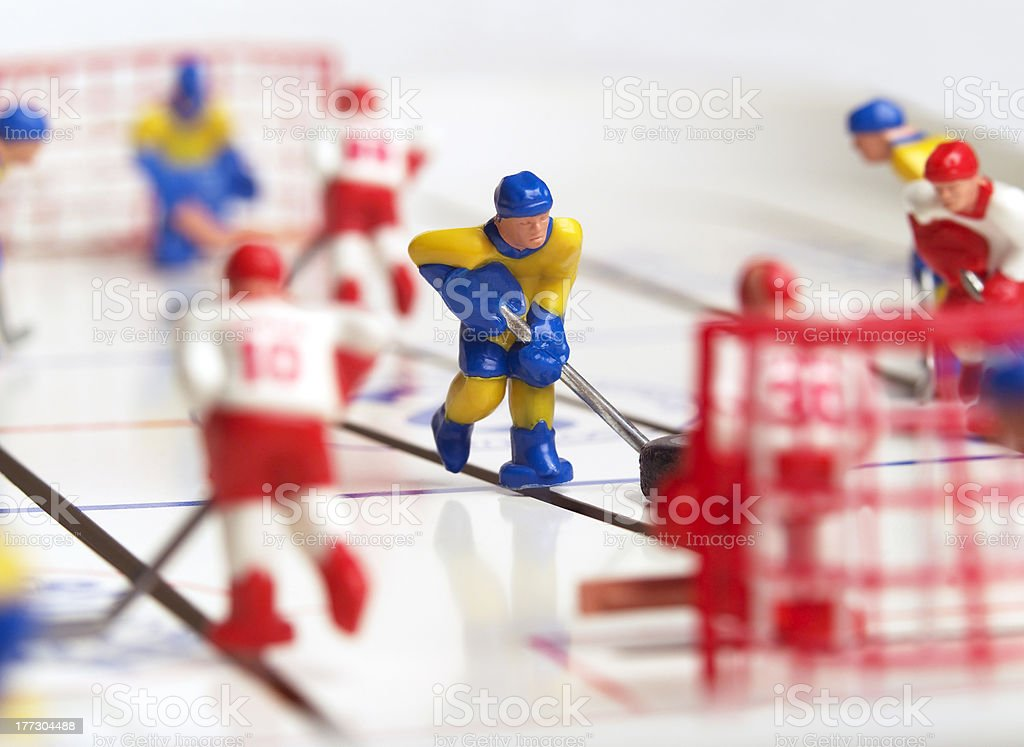 Hockey Toy royalty-free stock photo