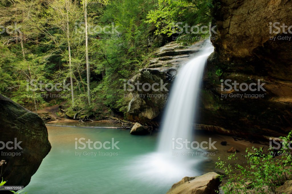 Hocking Hills Lower Falls royalty-free stock photo