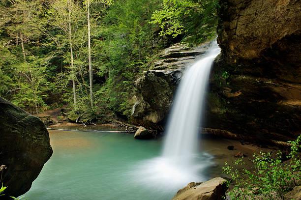 Hocking Hills Lower Falls stock photo