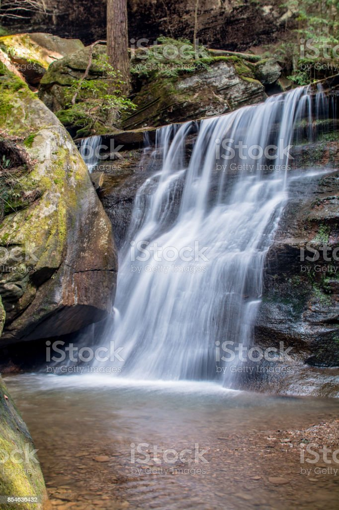 hocking hills Water fall stock photo