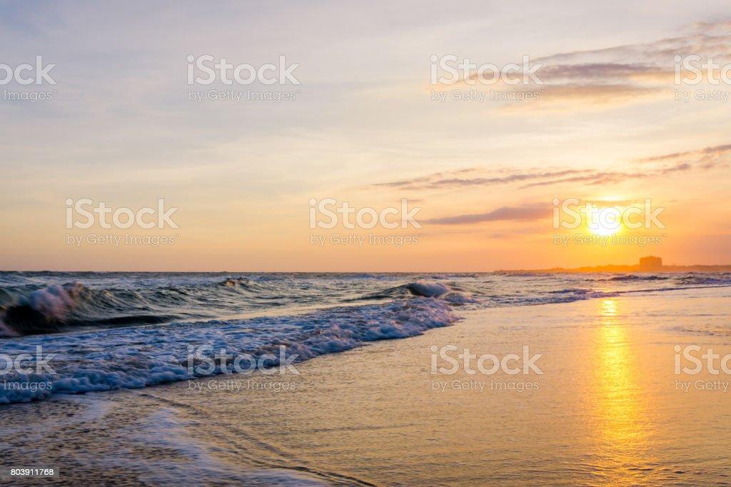 HoCoc beach sunset stock photo