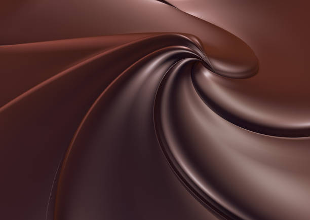Сhocolate swirl background stock photo