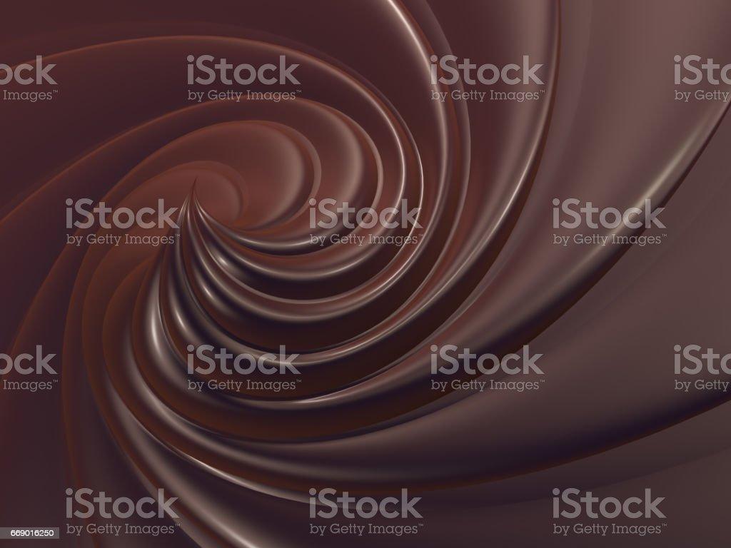 Сhocolate Wirbel Hintergrund – Foto
