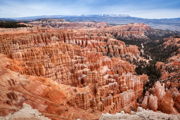 Hodoos landscape in Bryce Canyon, state Utah, traveling in USA stock photo
