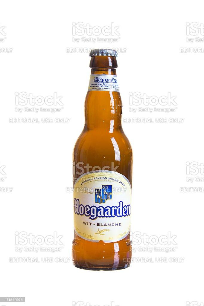 Hoegaarden unfiltered beer stock photo