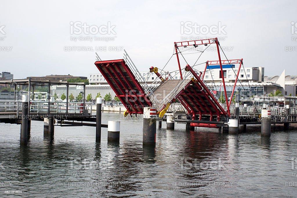 Hoernbruecke Kiel stock photo