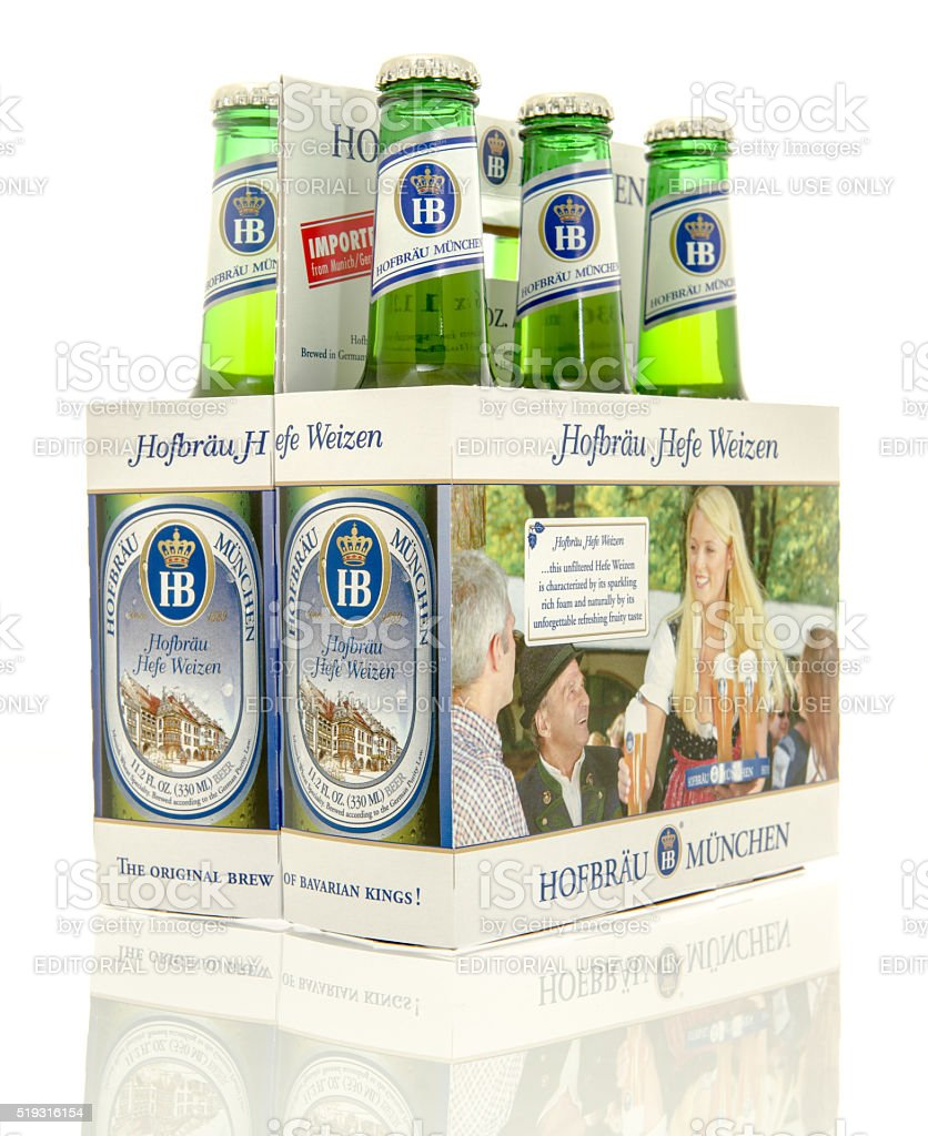 hofbrau beer stock photo