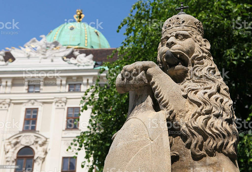 Hofburg palace in Vienna stock photo