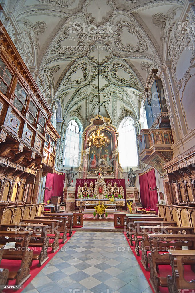 Hofkirche (Court Church)  in Innsbruck, Austria stock photo