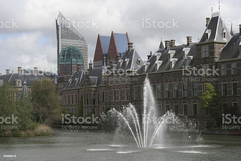 Hofvijver, the Hague royalty-free stock photo