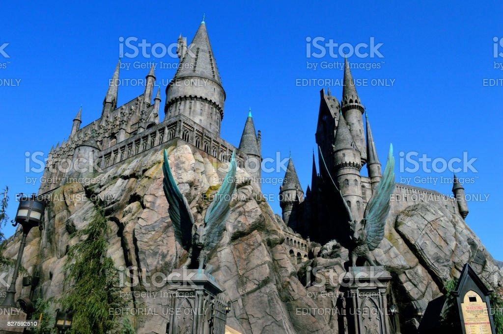 Hogwart Castle stock photo
