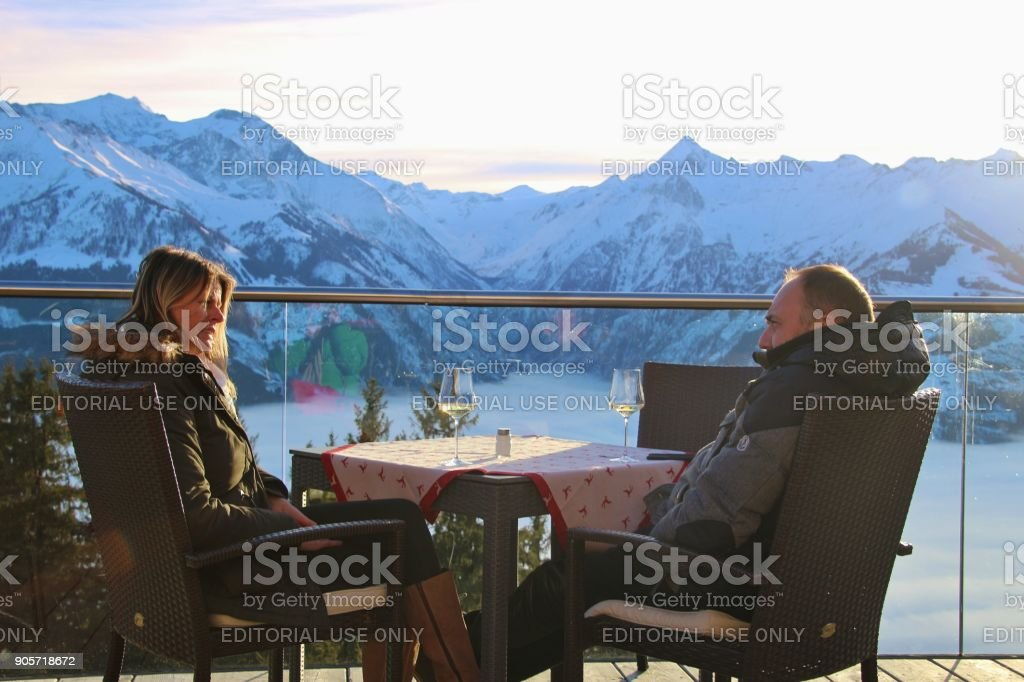 Hohe Tauern mountain range. Zell am See, Austria. stock photo