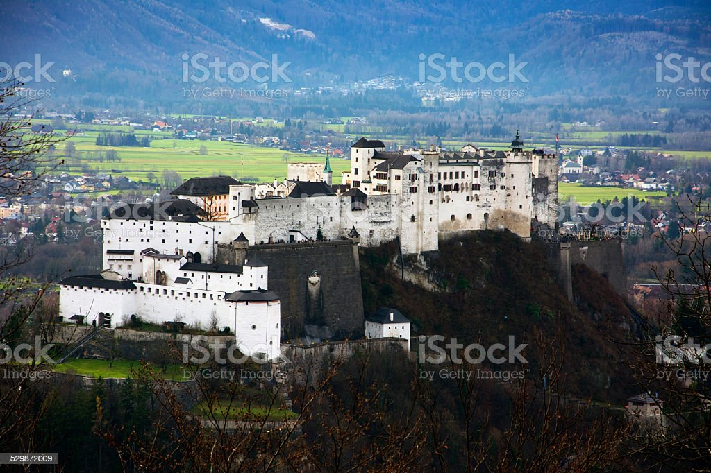 Hohensalzburg Fortress in Salzburg, Austria stock photo