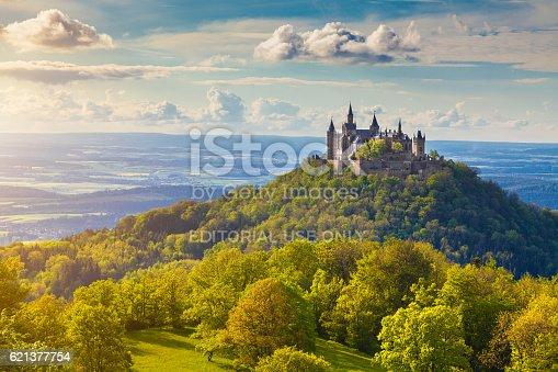 Hohenzollern Castle At Sunset Badenwurttemberg Germany