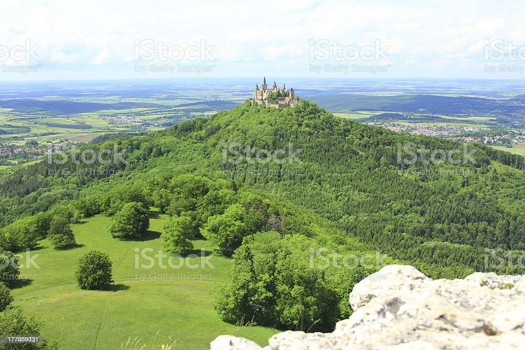 Hohenzollern Castle, Swabian Alb, Germany stock photo