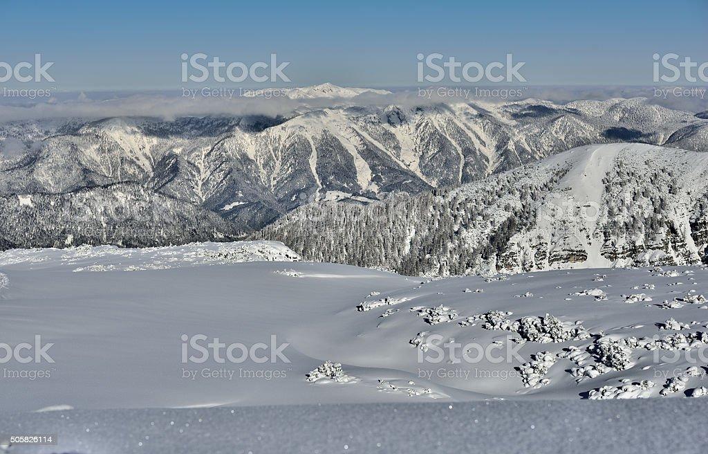 'Hoher Nock' mountain range in Upper Austria stock photo