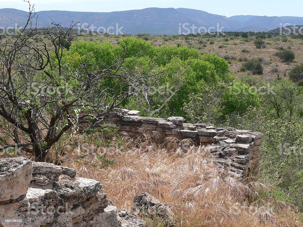 Hohokam Pit House Ruins stock photo