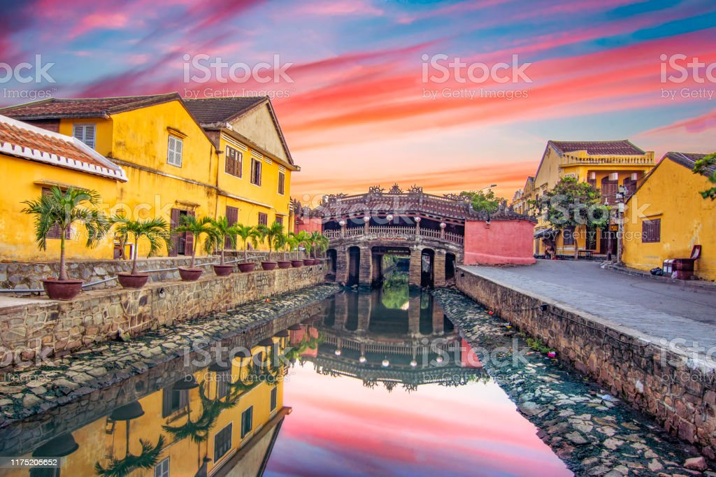 Hoi An ancient town on a early morning which is one of the most famous destination for tourists. Hoi An ancient town on a early morning which is one of the most famous destination for tourists. Capital Cities Stock Photo