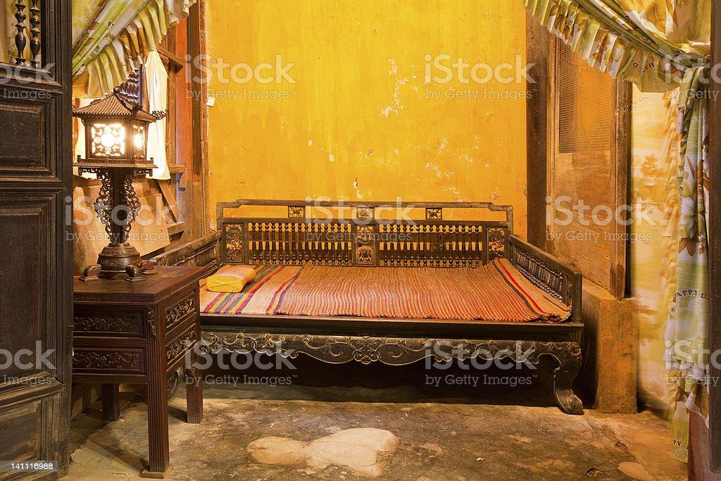 Hoi An bedroom stock photo