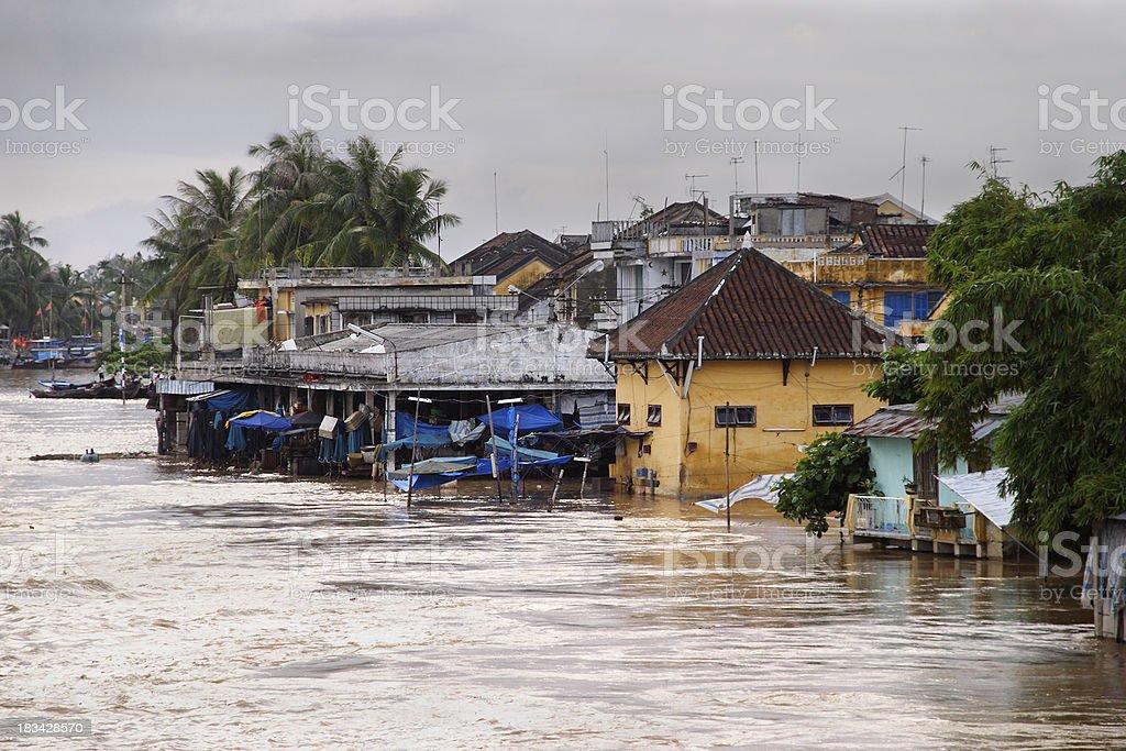 Hoi An flood stock photo