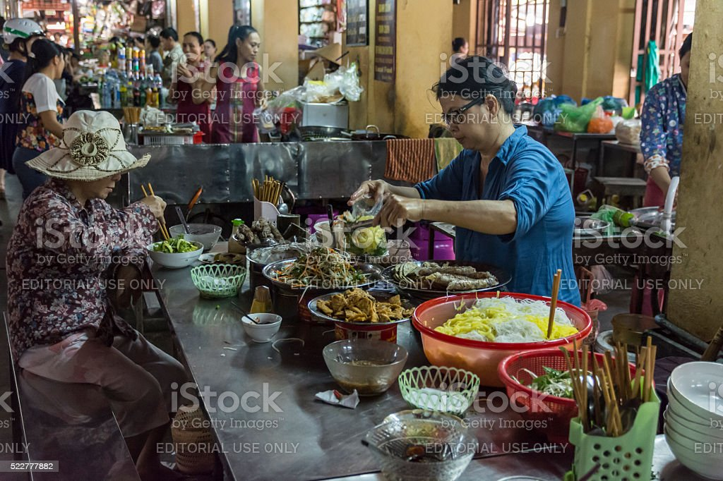 Hoi an market. stock photo