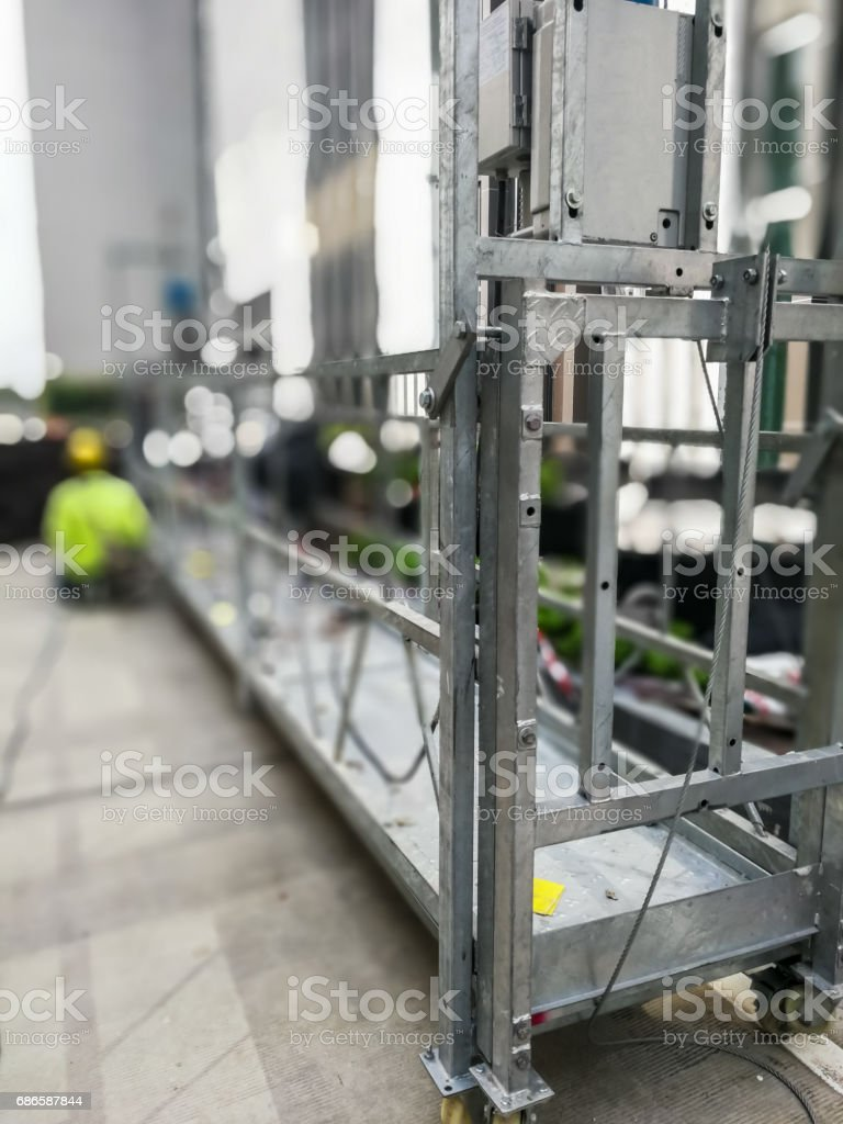 Hoist in engineer plant royalty-free stock photo