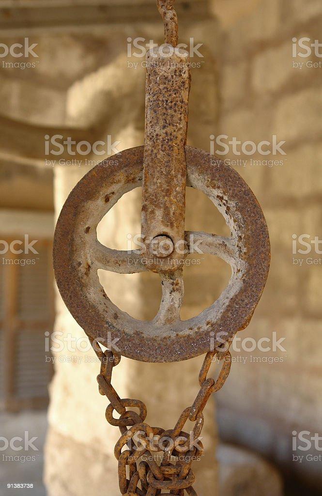 Elevador de palanca y polea - foto de stock