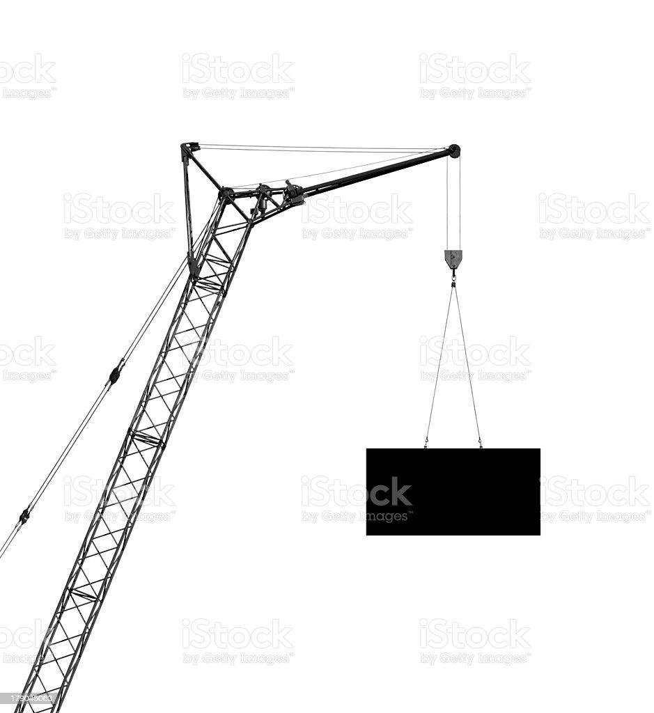 hoisting crane, silhouette royalty-free stock photo