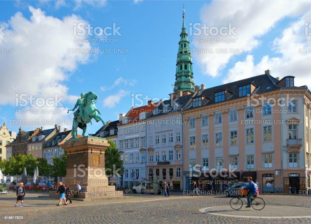Hojbro Plads in the center of Copenhagen stock photo