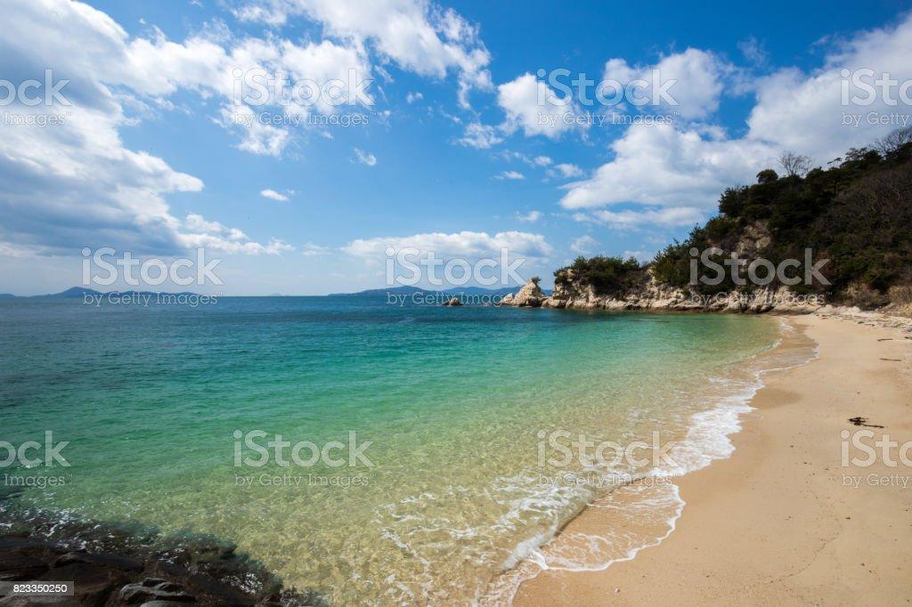 Hojo Nagahama Beach (Fuwari-mae beach) in Japan - foto stock