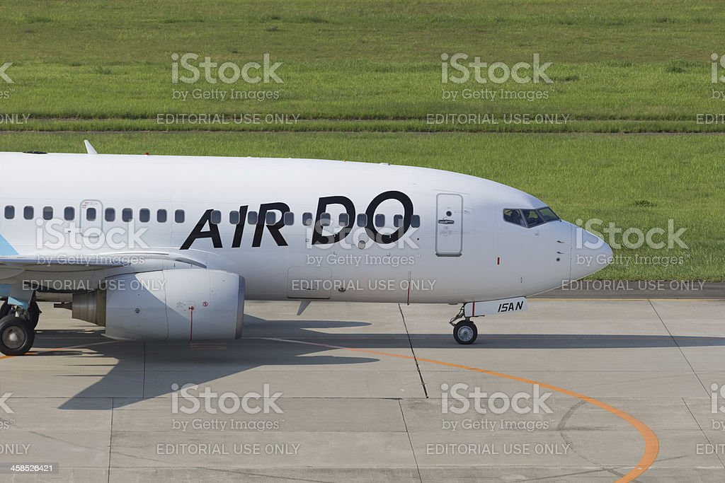 Hokkaido International Airlines Air Do Boeing 737 stock photo