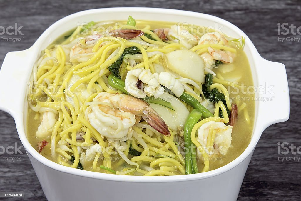 Hokkien Mee Stir Fry Noodles royalty-free stock photo
