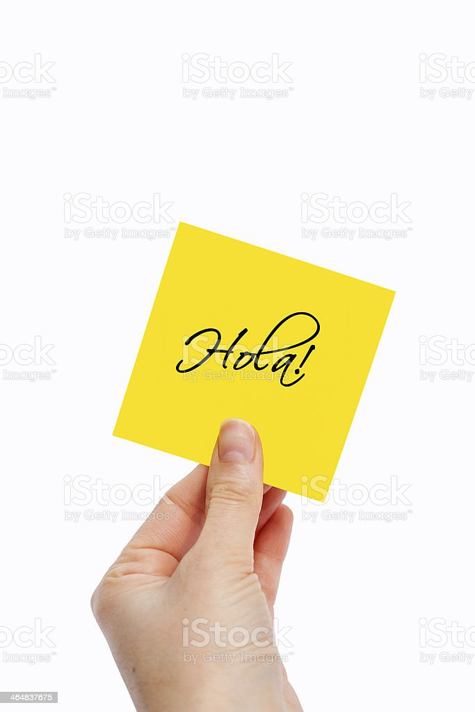 Hola! stock photo