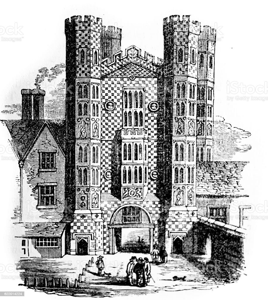 Holbein's Gate of Whitehall Palace stock photo