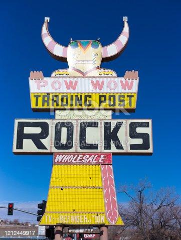 Holbrook, AZ, USA: A vintage (1950s) trading post on historic Route 66 in Holbrook, AZ.
