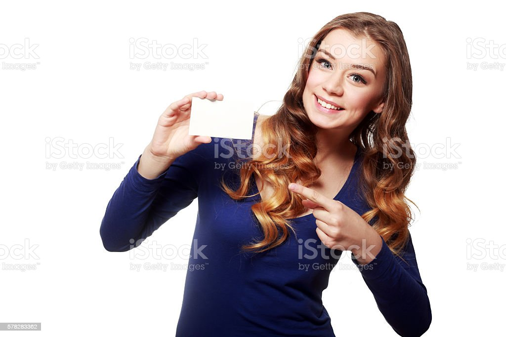 hold card stock photo