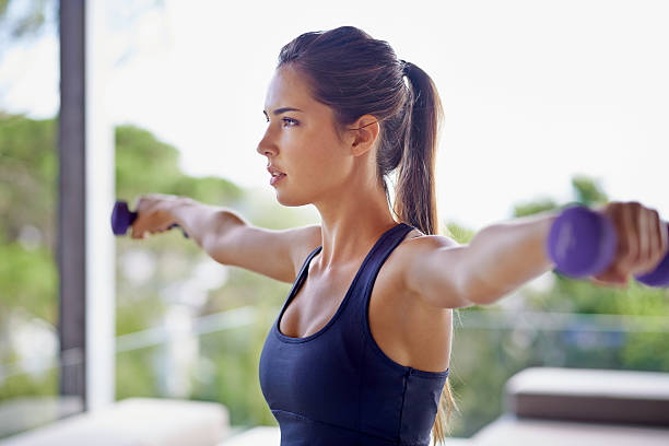 hold it.... - dumbbell stock pictures, royalty-free photos & images