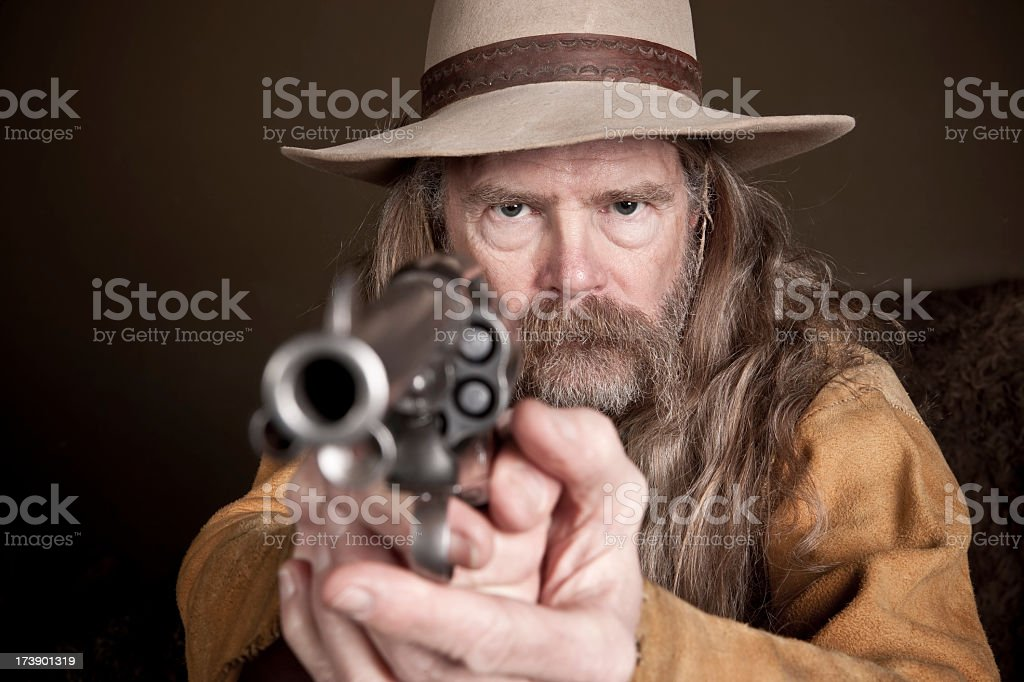 Hold It Right There Mister! stock photo