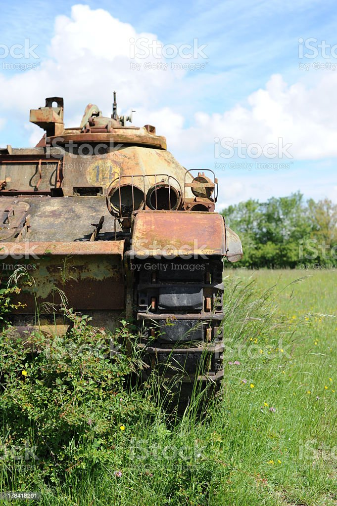 Hold military french tank royalty-free stock photo
