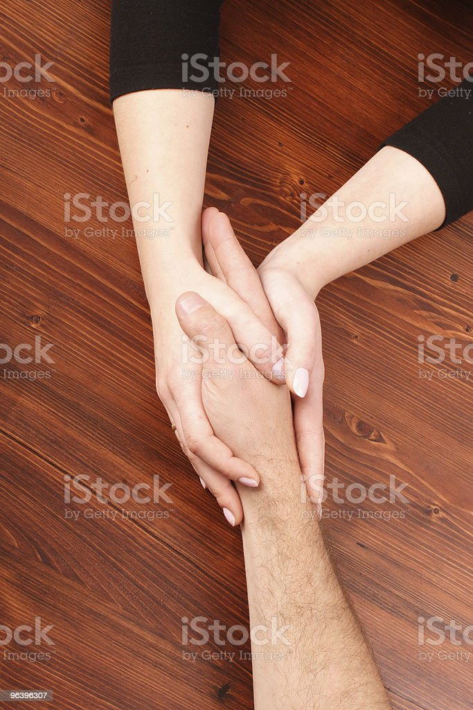 Hold my hand royalty-free stock photo