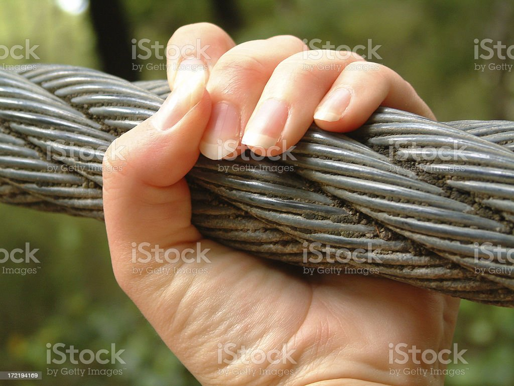 Hold On! stock photo