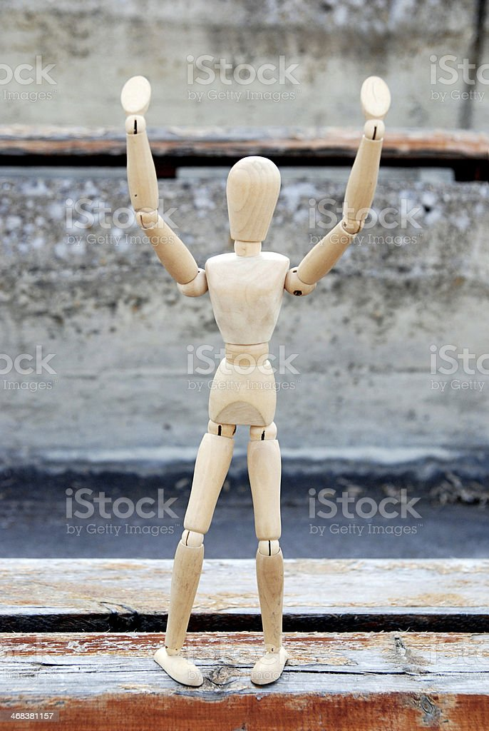 Hold on Stop - Hey royalty-free stock photo